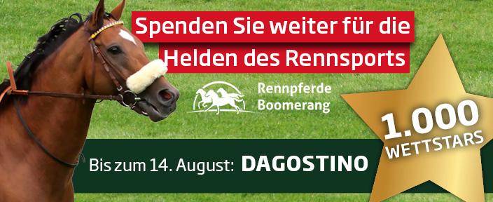 Wettstar spendet 1.000 € an die Rennpferde Boomerang gGmbH