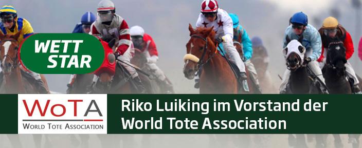 German Tote-Geschäftsführer Riko Luiking im Vorstand der World Tote Association